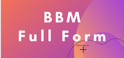BBM full meaning