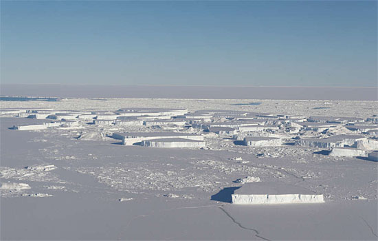 Nasa - Iceberg retangular - novas imagens - 3