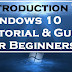 Introduction To Windows 10 Tutorial & Guide for Beginners 2017