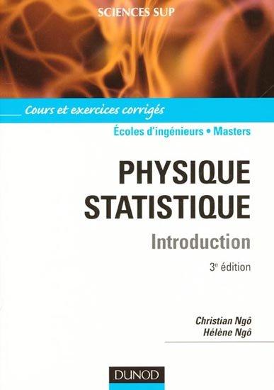 Livre : Physique statistique cours et exercices corrigés