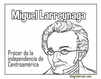Miguel Larreynaga dibujo para colorear
