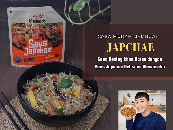 Cara Mudah Membuat Japchae, Soun Bening khas Korea dengan Saus Japchae Delisaos Mamasuka