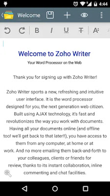 Screenshot Zoho Docs - Apcoid