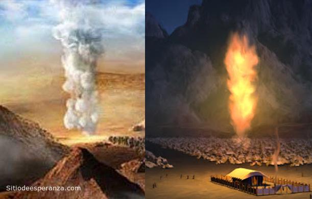 Jesús columna de nube y columna de fuego