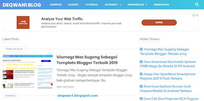 Fitur menarik viomagz template blogger terbaik 2019