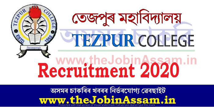 Tezpur College Recruitment 2020