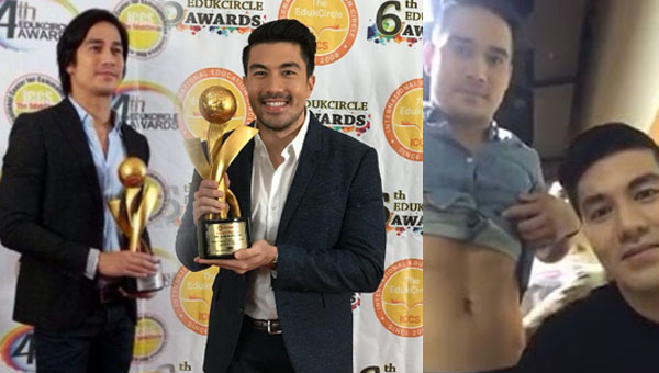 The controversial Piolo Pascual and Luis Manzano, honored at the 6th EdukCicle Awards