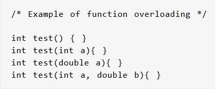 C++ Function Overloading and Example Function Overloading
