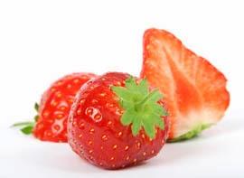 Las fresas contienen flavonoides