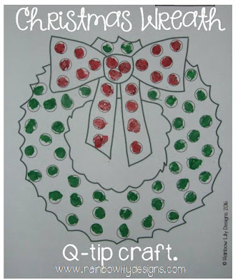 easy christmas wreath craft www.rainbowlilydesigns.com