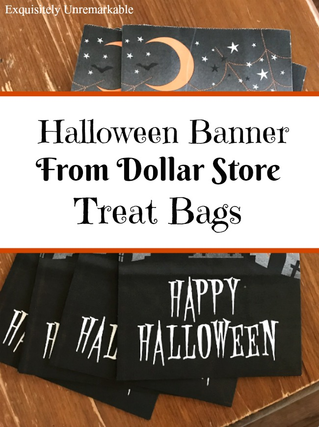 DIY Halloween Banner From Treat Bags Exquisitely Unremarkable