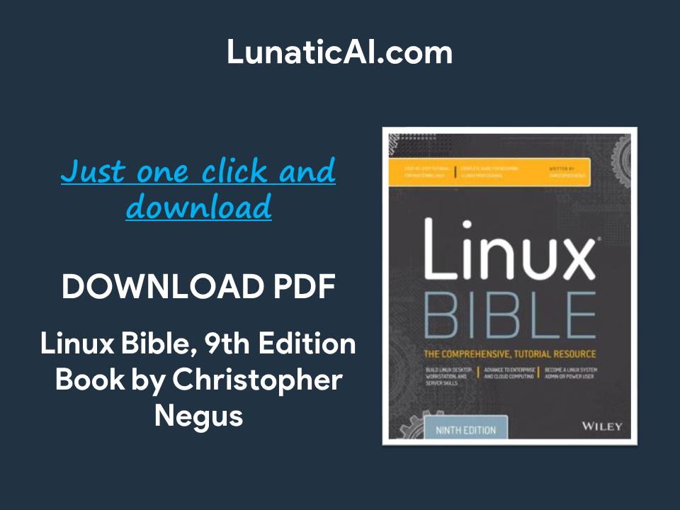 linux bible 9th edition pdf github