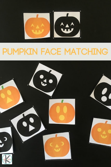 image about Printable Pumpkin Face titled Totally free Pumpkin Faces Matching Recreation Kindergarten Worksheets