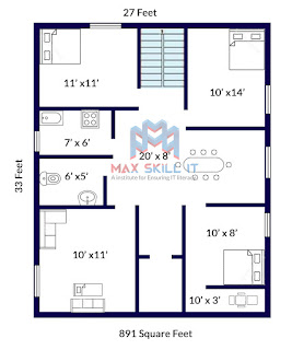 Low Cost House Plan | Ground Floor House Plan
