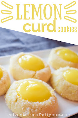 lemon thumbprint cookies with text overlay
