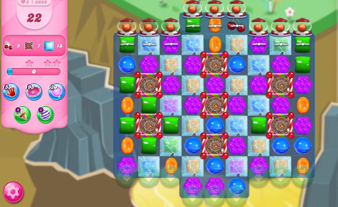 Candy Crush Saga level 6695