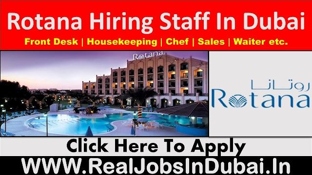 Rotana Hotel Jobs In Dubai  UAE.