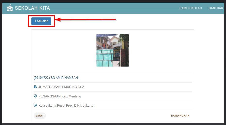 contoh hasil pencarian di aplikasi sekolah kita