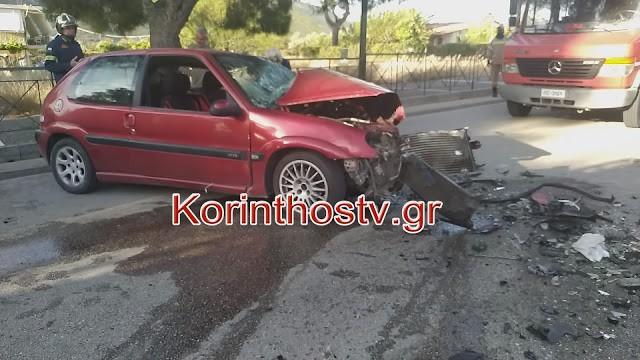 Θανατηφόρο τροχαίο στο Λουτράκι - Νεκρός 26χρονος μετά από συγκρουση αυτοκινήτων (βίντεο)