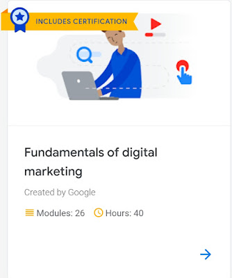 Course on Artificial Intelligence and Digital Marketing by Google   With Certification