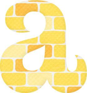 Alfabeto con Ladrillos Amarillos.