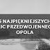 5 najpiękniejszych ulic przedwojennego Opola