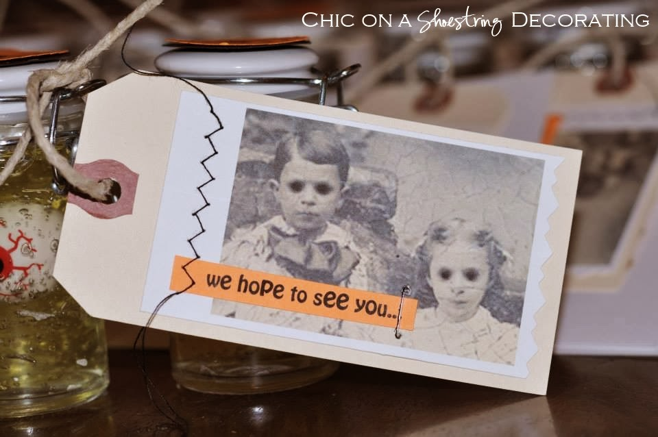 Chic on a Shoestring Decorating: DIY Halloween Eyeball Party Invitations