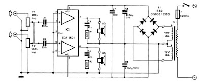 TDA1521-Integrated Stereo Amplifier