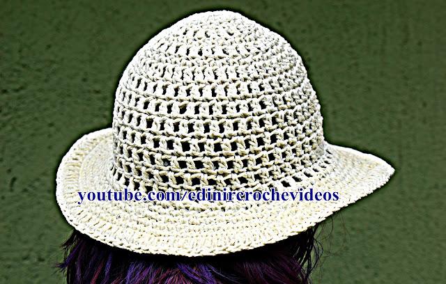 aprender croche com edinir croche youtube chapéu de crochê passo a passo iniciantes barbante euroroma