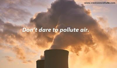 Slogan on Air Pollution