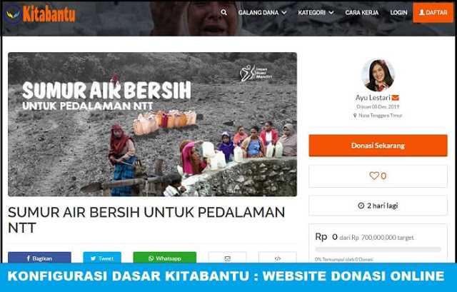 Konfigurasi Dasar Kitabantu : Website Penggalangan Donasi Online