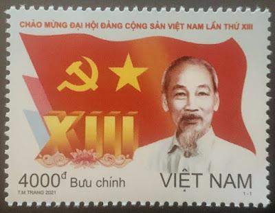 Vietnam 2021 13th Communist Party Congress Stamp Mint MNH Ho Chi Minh
