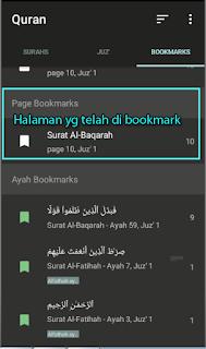 List Bookmark Halaman
