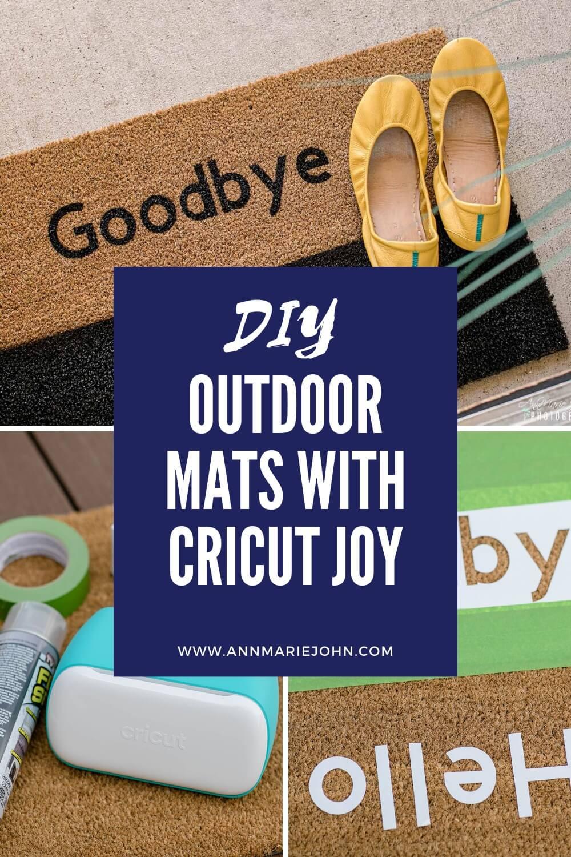 DIY Outdoor Mats with Cricut Joy