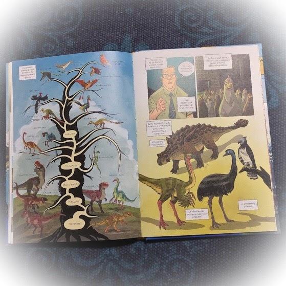 """""""Dinozaury. Skamieliny i pióra"""" MK Reed, Joe Flood, Naukomiks, Nasza Księgarnia"""
