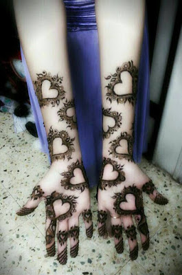 simple arabic mehndi designs for left hand palm