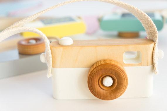 mini appareil photo jeu en bois