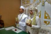 Pernikahan di Tengah Wabah Corona, Ijab Kabul Perdi dan Asri Berlangsung Khidmat