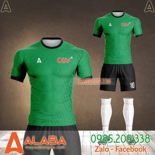 áo bóng đá rạp cgv màu xanh lá