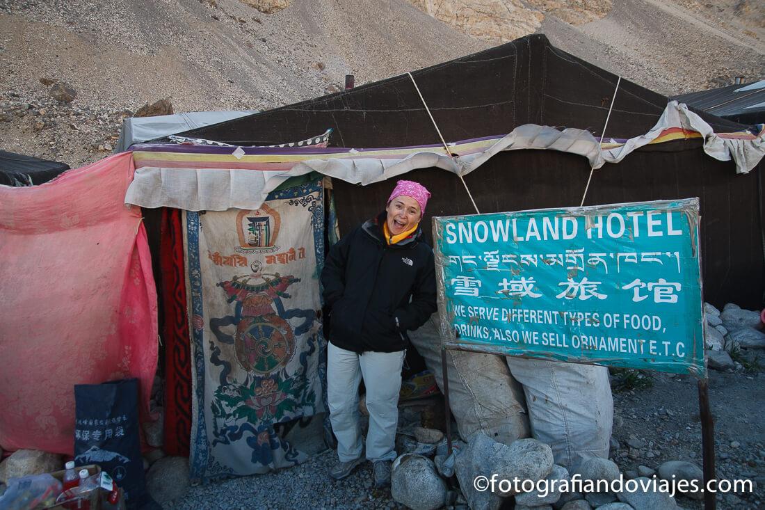 Alojamiento en el campo base  Everest