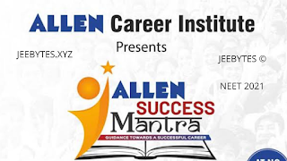 NEET 2021 ALLEN BIOLOGY SUCESS MANTRA CHAPTER'S-WISE [PDF]