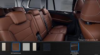 Nội thất Mercedes GLS 350d 4MATIC 2018 màu Nâu Saddle 224
