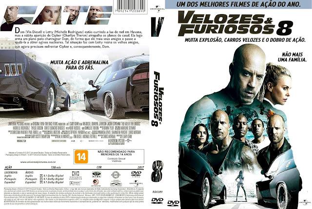Capa DVD Velozes & Furiosos 8 [Custom]