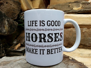 handmade ceramic horse lover coffee gift mug