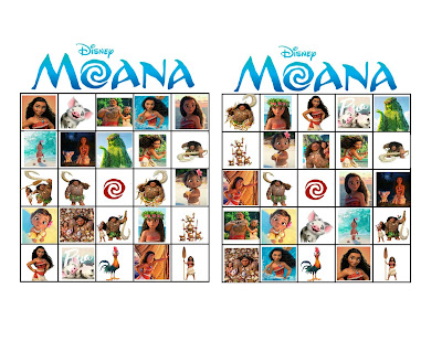 Moana party printables