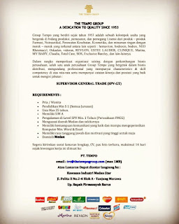 Supervisor General Trade di Tempo Group
