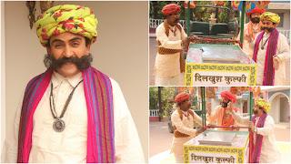 Sab TV Show Taarak Mehta ka ooltah chashmah Jethalal in mustache