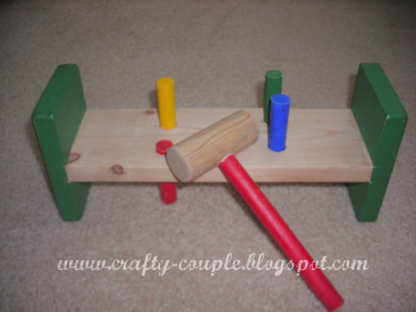 Crafty Couple Wooden Hammer Toy