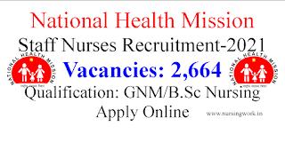 NHM 2664 Staff Nurses recruitment