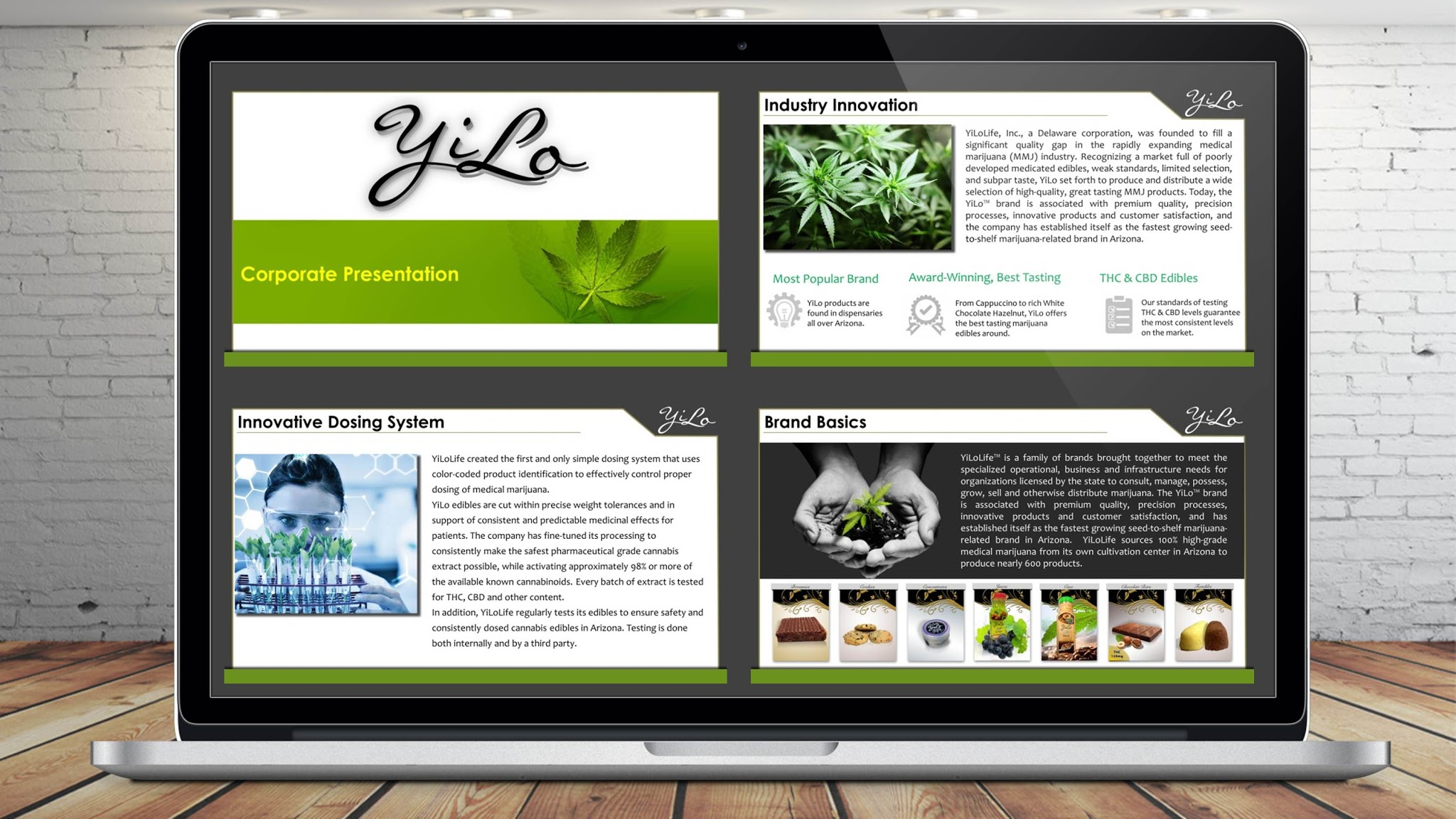 Medical Marijuana Edibles Investor Pitch Deck